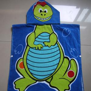 Adult Gift 100% Cotton Printed velour Hooded/Poncho beach towel