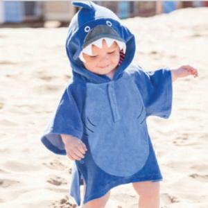 Baby & Kids hooded poncho towel with animal designs