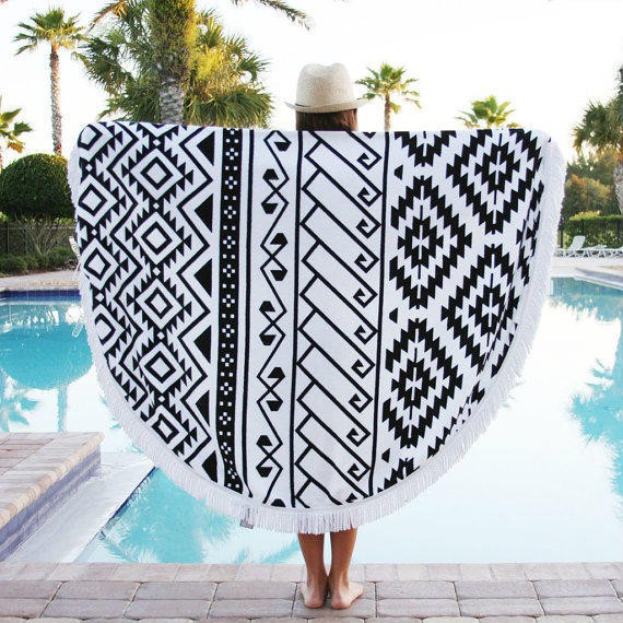 Colorful and Fun  Circular beach towels for Beach and Travel