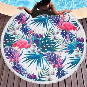 Custom Logo design Round Beach Towel