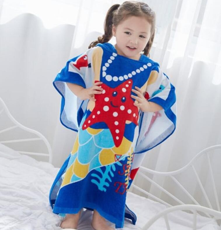 Custom hooded poncho towels sand free for toddlers