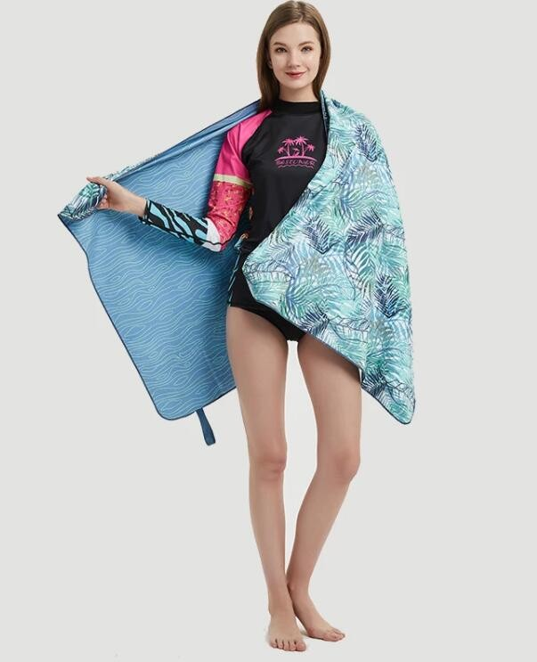 Luxury Flat Woven Shiny Dot Printed Beach Towel for Adult 100% cotton