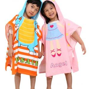 100% Organic Cotton Hood Towel Poncho