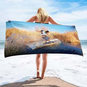 Personality custom printed cotton beach towels
