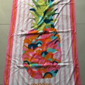 Pineapple customer promotional beach towel