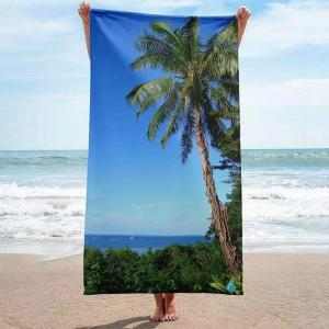 Premium quality organic cotton reactive printed velour beach towels