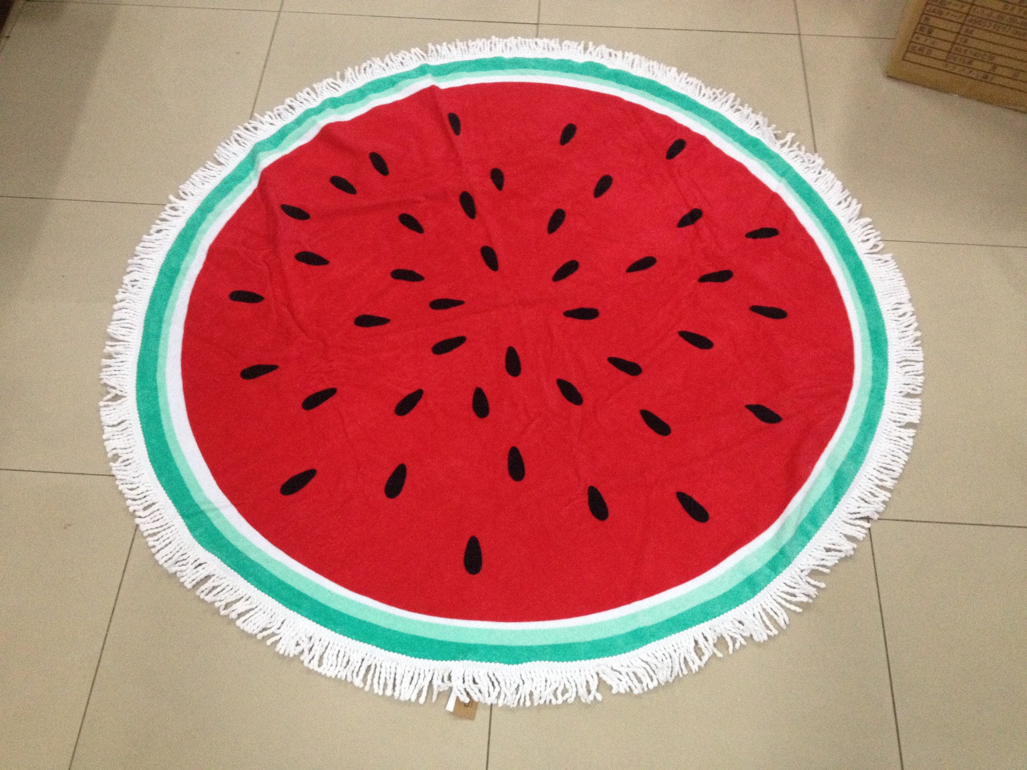 Watermelon  printed sand free round beach towel