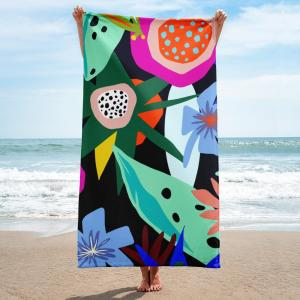 100% cotton double side printed beach towel