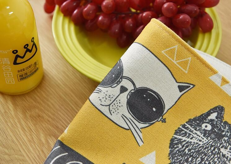 custom active digital print kitchen tea towel