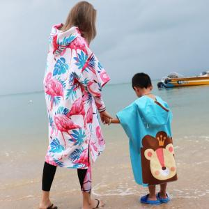 XL size 100%  cotton hooded poncho beach  towels